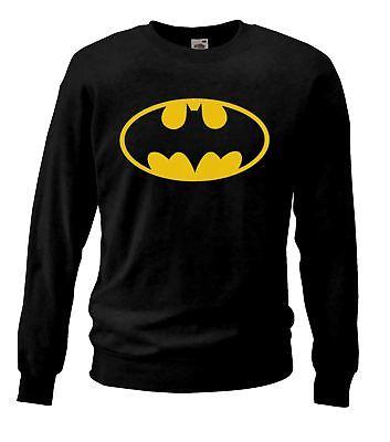 e9850e3922c Adults Unisex Black Batman Sweatshirt Super Hero Bat Man Clothing UK ...